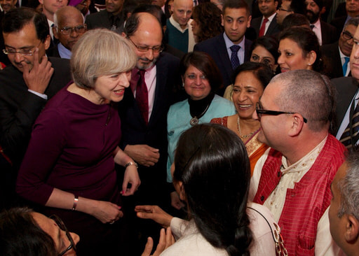 IMG Mahaprabhu dasa meets British Prime Minister during reception at 10 Downing Street for Diwali.