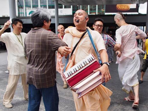 Street chanting in Taiwan