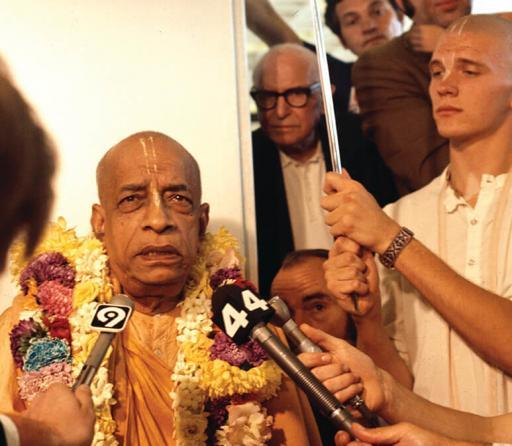 Srila Prabhupada being interviewed (1970's)