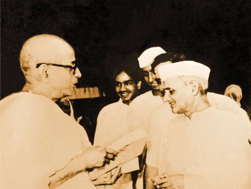 Srila Prabhupada with Indian Prime Minister