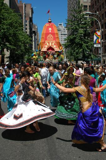 Rathayatra in New York City, USA