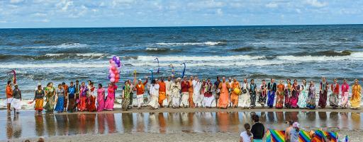 Beach festival on the Baltic Sea coast in Poland