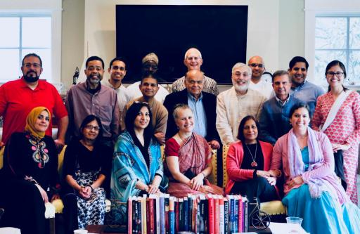 ISKCON members and academics after a conference in the US