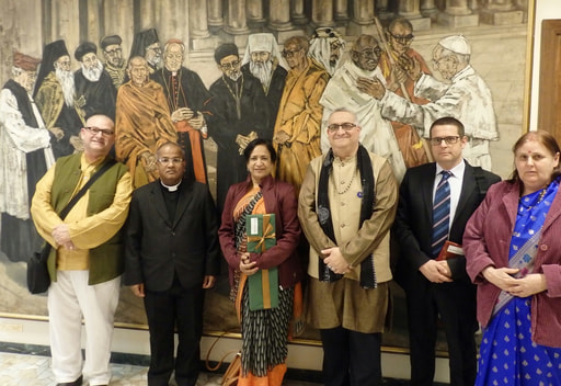 Hindu Forum of Europe Board at the Vatican.