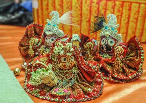 Mini Lord Jagannatha, Baladeva and Subhadra Deities