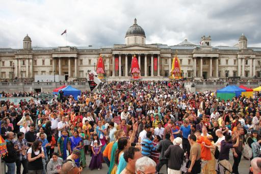 Rathayatra festival at Trafalgar Square, London, UK