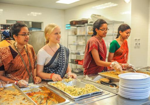 Cooking by ISKCON youth members for a festival